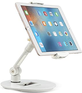 Suptek Aluminum Tablet Desk Stand 360° Flexible Cell Phone Holder Mount for iPad, iPhone, Samsung, Asus and More 4.7-11 inch Devices, Good for Bed, Kitchen, Office (YF108DW)