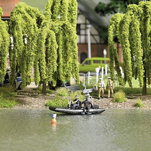 Busch 5485 H0 See mit fahrendem Polizeiboot