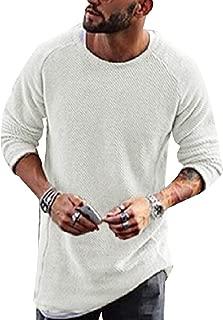 Winwinus Mens Scoop Neck Knit Pullover Plus Size Pullover Sweater