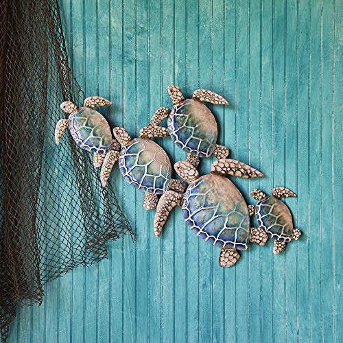 Eangee Home Design Sea Turtle Wall Decor Group Of Five 29 Inches Length x 2 Inches Width x 23 Inches Height inches (m8004)