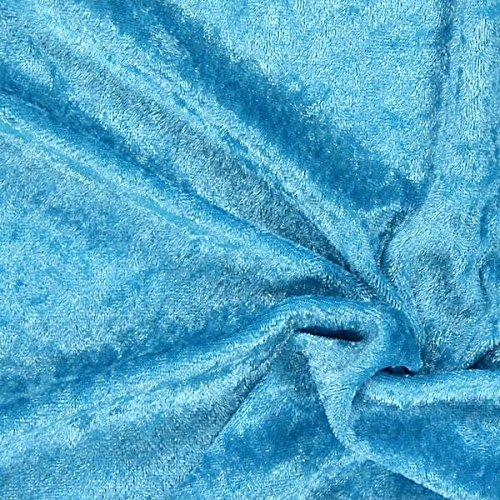 Fabulous Fabrics Pannesamt türkis – Weicher Samt Stoff zum Nähen von Kleider, Oberteile, Tücher und Tischdecke - Pannesamt Dekostoff & Bekleidungsstoff - Meterware ab 0,5m