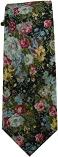 Children's Tie (for ages 8-14 years old) Floral Tie Cotton Youth Tie Navy Blue with Roses Floral Tie