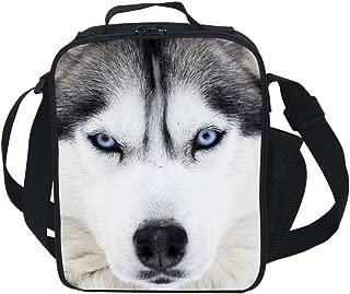 CAIWEI Animal Dinosaur Cat Shark Husky and Dolphin Insulated Lunch Box Cooler Bag (Husky 1)