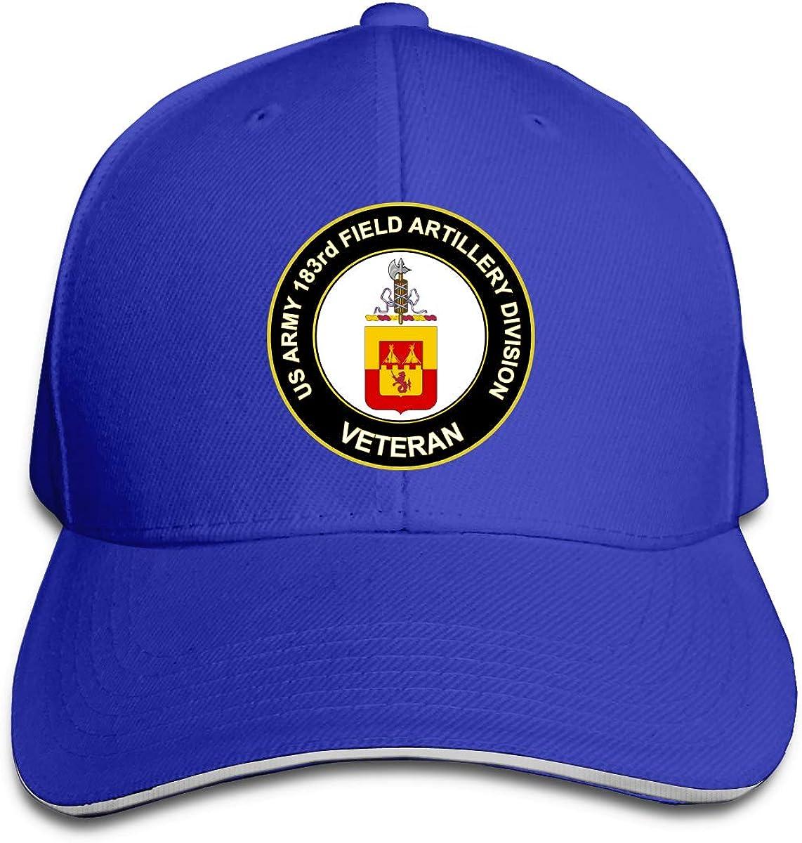 U.S Army Veteran 183rd Field Artillery Division Adjustable Baseball Caps Vintage Sandwich Cap