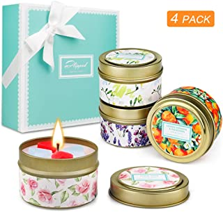YINUO LIGHT Scented Candles Rose, Lavender, Lemon, Freesia Gift Set of 4