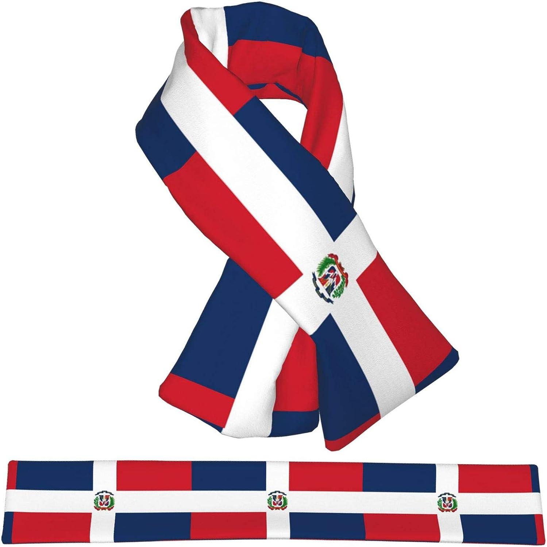 Winter Scarfs Dominican Republic Flag Scarves Wraps Neck Warmer Flannel Winter Cross Tie Scarves