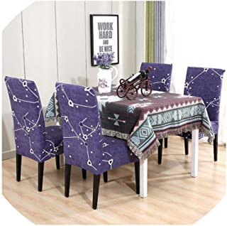Office Chair Covers Stretch for Dining Room Wedding Chair Cover Seat Slipcovers Banquet Elastic Leaves Printed,Color 6,1 Pc