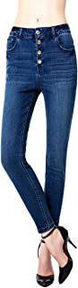 Blue Rainbow Womens Distressed Destroyed Frayed Jeans Relaxed Fit Denim Comfy Ripped Pants