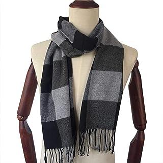 Fashion Simple Style Unisex Comfortable Warm Plaid Tassels Cashmere Scarves