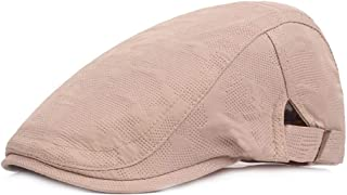 2019 Women Peaked Cap for Unisex Cool Summer Mesh Flat Cap Adjustable Duckbill Newsboy Gatsby Irish Hat 55-60cm (Color : 1, Size : Free Size)