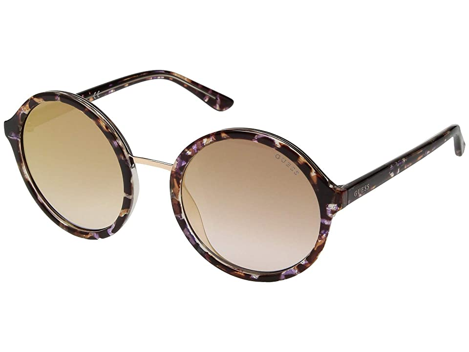 GUESS GU7558 (Pink/Other/Gradient/Mirror Violet) Fashion Sunglasses