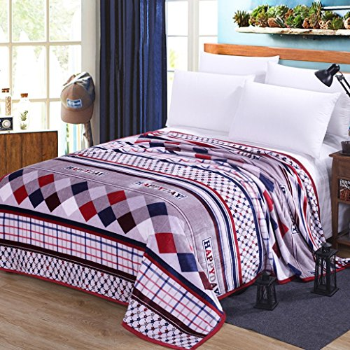 Wddwarmhome Couvertures Chaudes Chaudes et Confortables de Couverture de lit de Chambre de Polyester de Couverture Chaude de lit de Quatre Saisons Couvertures (Taille : 180 * 200cm)