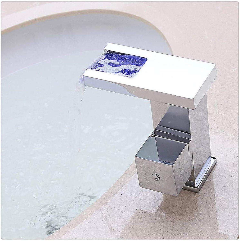 Wasserhahnbadezimmer Waschbecken Wasserhhne Moderne Chrom Led Beleuchteten Wasserfall Waschbecken Wasserhahn Für Badezimmer Becken Wasserhahn