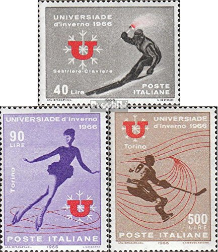 Sport Invernali 1966 Sport Invernali Completa Edizione Prophila Collection Italia Michel.-No..: 1198-1200 Francobolli per i Collezionisti