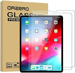 واقي شاشة لجهاز iPad Pro 11 بوصة 2018، واقي شاشة من الزجاج المقوى يعمل مع هوية الوجه - متوافق مع قلم Apple Pencil / شديد ا...
