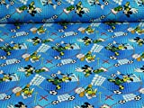 Disney Jersey Micky, Donald, Goofy, Öko-Tex Standard 100, Fußball (25cm x 160cm)