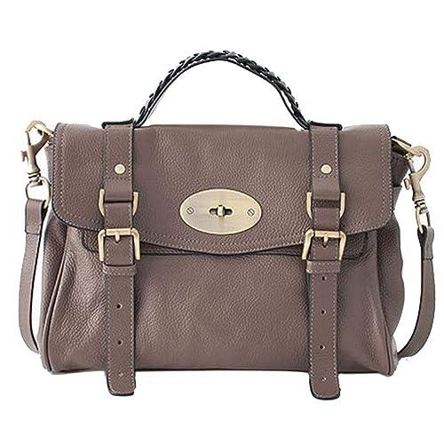 Cowhide Satchel Shoulder Daily Handbag b9d814f4b751f