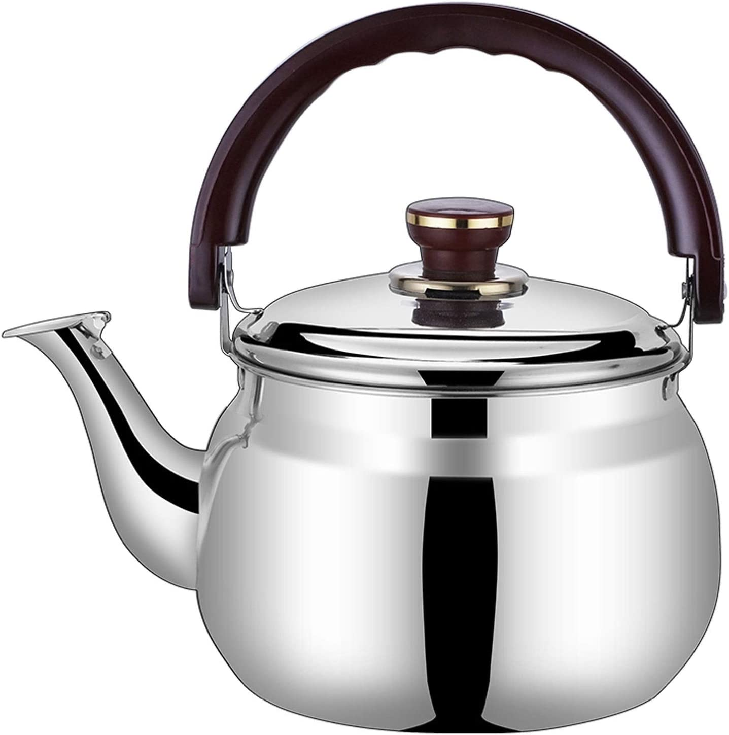 Mini We OFFer at cheap prices Whistling Tea Portland Mall Kettle Handle Anti-Scalding Steel Stainless