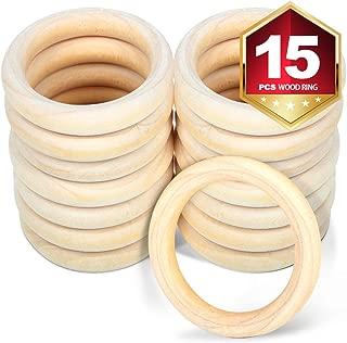 2 wooden rings