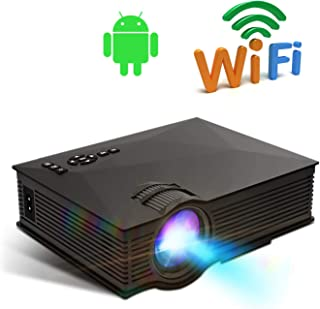 Portable Projector - TECHVIDA - Mini HD Projector Multimedia 480P, Multimedia Home Theater Video Projector - HDMI USB SD C...