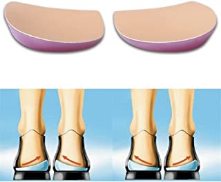 Orthopedic Insoles Shoe Inserts Medial & Lateral Heel Wedge Lift Silicone Pads Corrective O/X Type Leg, Perfect Halfsphere Design for Bowlegs and Knock Knees