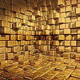 CHAFQZQ 3D Wandbilder Dekorationen Wand Aufkleber Tapete 3D Realistische Simulation Backsteinmauer Kunst Kinder Kche_400*280cm