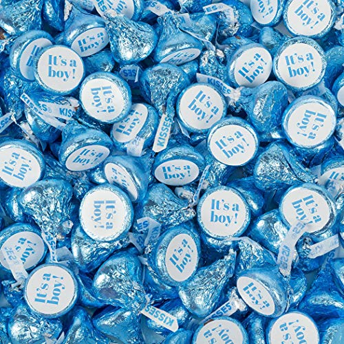 1lb It's A Boy Baby Shower Candy Hershey's Kisses (Approx 100 pcs)