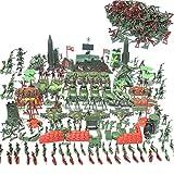 Kapokilly soldatini di plastica -kit di soldatini militari - Kit Soldatini Militari, Carri Armati, Aerei, Elicotteri, Figure Di Simulazione Di Campi Di Battaglia, Giocattoli Per Bambini, 519pcs