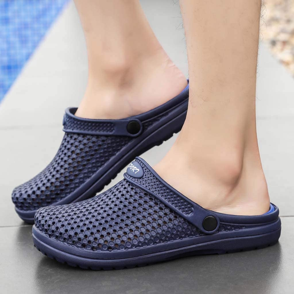 Garden Clog Shoes Men Casual Slip On Lightweight Quick Drying Outdoor Slippers