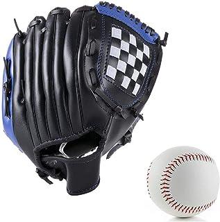 Wonninek 10,5 Pouces Gant de Baseball Doux Solide en Cuir PU /épaississant pichet Gants de Balle Molle pour Enfants Adolescents Adulte Gant de Baseball Professionnel Attraper