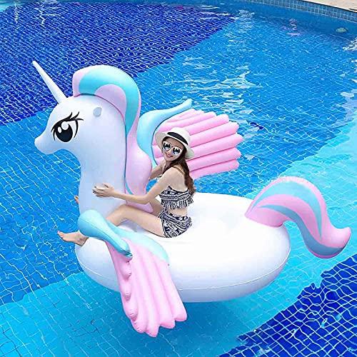 VeroMan 乗れる浮き輪 ユニコーン 水遊び 海水浴 水泳 フロート 強い浮力 プール 夏