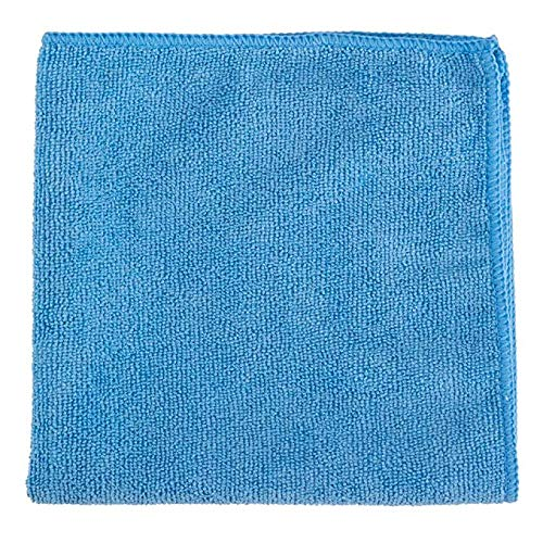 EOM Towels Microfiber Cleaning Cloths/Washcloths 24 Pack - Best Towels for Dusting, Scrubbing, Polishing, Absorbing, Kitchen, House, Car Cleaning Cloths: Color Blue, Size 12x12