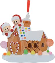 Personalized Gingerbread House Family of 2 Christmas Tree Ornament 2019 - Our Sweet Home New Candy-Cane Door Children Couple Friend Sibling 1st First- Free Customization(Two)