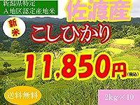 平成28年新潟県産特定産地米 (佐渡産2㎏×10)