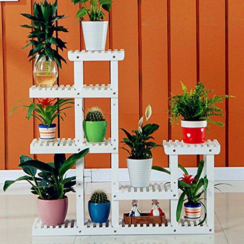 Affichage de support de fleur de balcon Ensemble de support de fleur en bois massif moderne support de plante d'intérieur et d'extérieur multi-fonction Support de plante extérieur intérieur