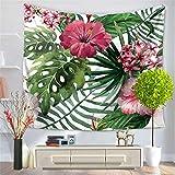 Hey shop Tapiz de paisaje de flores para colgar en la pared, decoración impresa para dormitorio, sala de estar, cama, toalla de playa, decoración de dormitorio