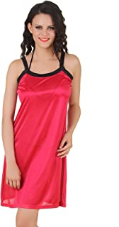 Fasense Women's Satin Nightwear Sleepwear Short Nighty