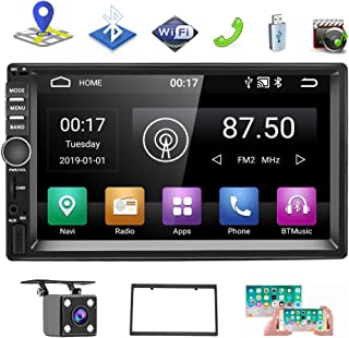 """Android 9.0 Double Din Car AM Radio Receiver, 7""""HD Touch Screen Car Stereo, Support GPS Navigation Bluetooth&Android iOS M..."""