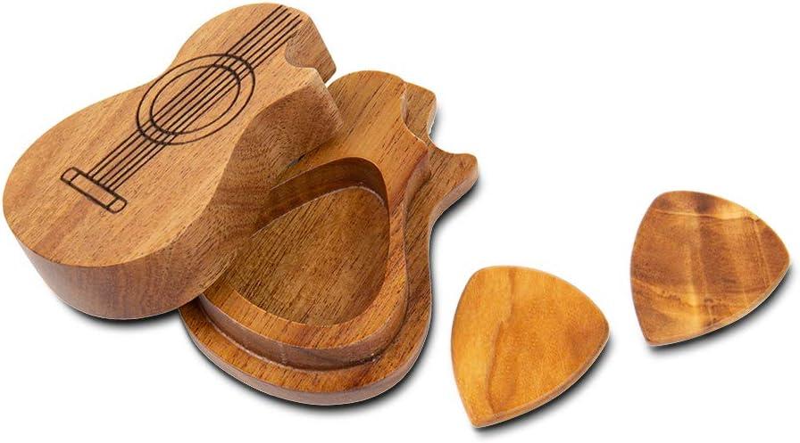 2-PICKS Albertband Personalized Guitar Wood Picks Box Guitar ...