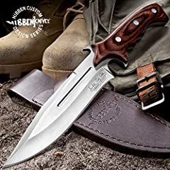 "Features a rich, brown pakkawood handle Blade is a razor-sharp, 5 7/8"" 7Cr17 stainless steel Has a stinging spear point tip and extended piercing tang Handle scales wrap the full tang blade for a stylish, smooth grip A raised thumb rest on the back o..."
