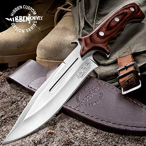 Gil Hibben Legacy Combat Fighter Knife II With Leather Sheath