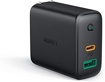 AUKEY USB-C 30W Dual Port Wall Charger