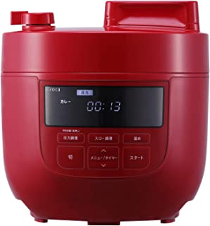 シロカ 電気圧力鍋 SP-4D151 レッド [1台6役(圧力・無水・蒸し・炊飯・スロー調理・温め直し)/大容量4Lモデル]
