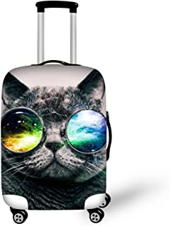 CHAQLIN 3D Sum Glasses Cat Face Printed Luaggage Protective Cover