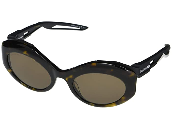 Balenciaga  BB0053S (Havana) Fashion Sunglasses