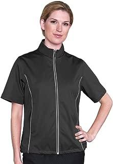 Monterey Club Ladies Half Sleeve Microfiber Dobby Water Repellent Windshirt #2763