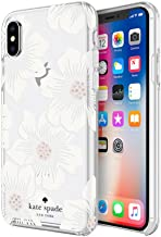 Incipio Apple iPhone X Kate Spade New York Protective Hard-Shell Case - Hollyhock Floral (Clear/Cream with Gems)