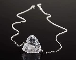 eValuesell New Edition Angel Aura Quartz Stone Handmade Necklace Women Dainty Jewelry 925 Sterling Silver Chain 18