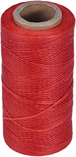 Sewing Waxed Thread DZT1968 260m Leather Sewing Waxed Thread 1MM for Upholstery Shoes Luggage (Red)