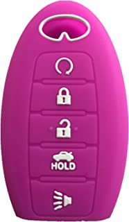 Rpkey Silicone Keyless Entry Remote Control Key Fob Cover Case protector For Infiniti g35 qx56 fx35 q50 g37 m35 qx60 i35 qx80 q60 qx30 for 5 buttons(Violet)S180144014